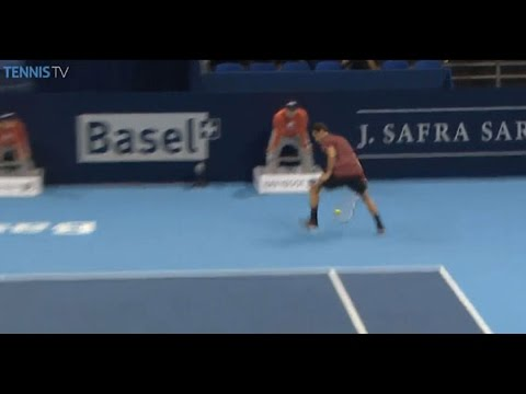 Shot - Watch Hot Shot as Grigor Dimitrov uses a 'tweener to set up a winning point against Vasek Pospisil in Basel. Watch live matches at http://www.tennistv.com/