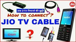 "Video Jio TV Cable ? How to Connect  CRT & LED TV ""जियो फोन से TV पर कैसे देखे?.ft MP3, 3GP, MP4, WEBM, AVI, FLV September 2018"