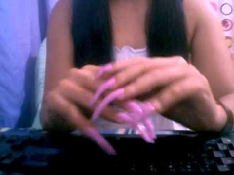 hotlongNAILS and her wonderful long natural nails (video 2)