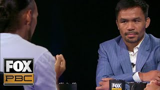 Manny Pacquiao vs. Keith Thurman [FULL INTERVIEW] | FACE TO FACE | PBC ON FOX