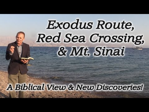 The Miraculous Exodus Route, Red Sea Crossing, & Mt. Sinai! A Biblical View and New Discoveries!