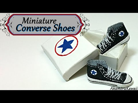 tutorial fimo - miniature converse
