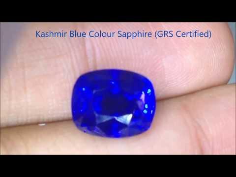 Natural Kashmir Blue Sapphire - 10 Carats - by Gandhi Enterprises