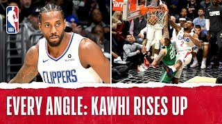 Every Angle: Kawhi Dunks It With AUTHORITY! by NBA