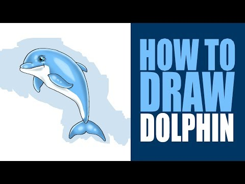 (How to draw Dolphin step by step in photoshop easy for kids. - Duration: 111 seconds.)