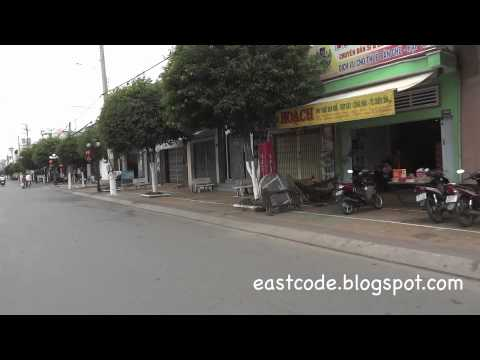 on motorbike to Bac Lieu downtown from Longdistance bus terminal South  Vietnam