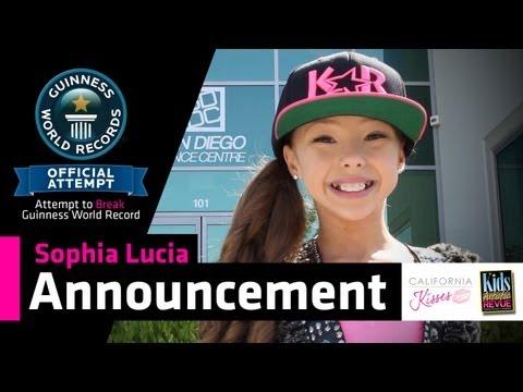 Sophia Lucia - Attempt to Break Guinness World Record Announcement