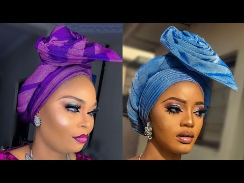 BEGINNER/HOW TO TIE SIMPLE TRENDING GELE (ROSE)STYLE💃🙌