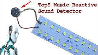 Top 5 Music Light Sound detector, diy electronics projects