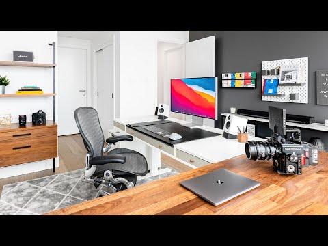 ULTIMATE Modern Desk Setup and Office Tour 2020!