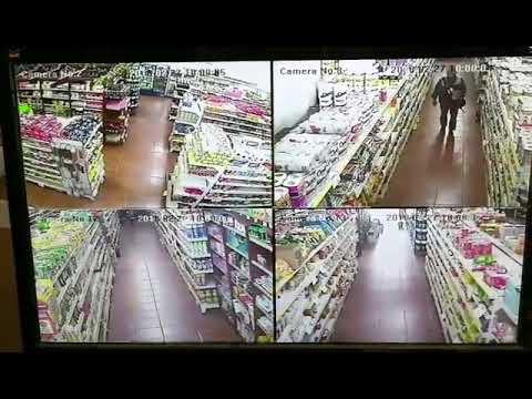 Inspector de migraciones roba en un supermercado chino de Argentina ,阿根廷移民局工作人员配合台湾人翻译在中国人超市偷东西。🌚🌚