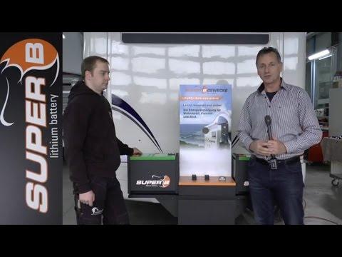 Super B Lithium Batterien on Board