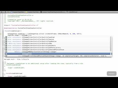 Xcode 4 IPhone SDK Tutorial - Custom…