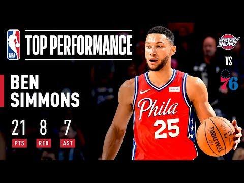 Ben Simmons Shows OFF Range, Posts A Near Triple-Double!   2019 NBA Preseason