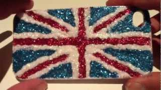 DIY Glitter Union Jack Phone Case - YouTube