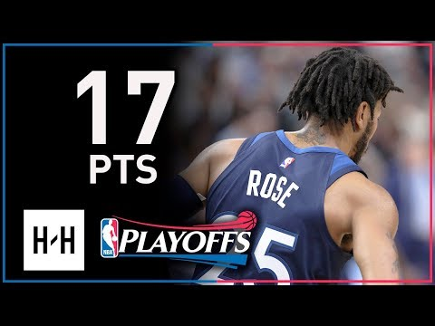 Derrick Rose Full Game 3 Highlights Wolves vs Rockets 2018 Playoffs - 17 Points!