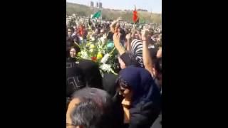 مراسم خاکسپاری شاهرخ زمانی در تبریز