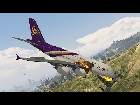 GTA 5 - A380 Thai Airlines Menabrak Gunung