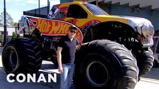 Video Conan Drives Monster Trucks - CONAN on TBS MP3, 3GP, MP4, WEBM, AVI, FLV Agustus 2018