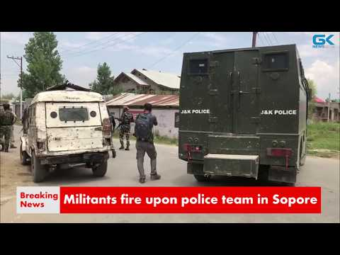 Militants fire upon police team in Sopore