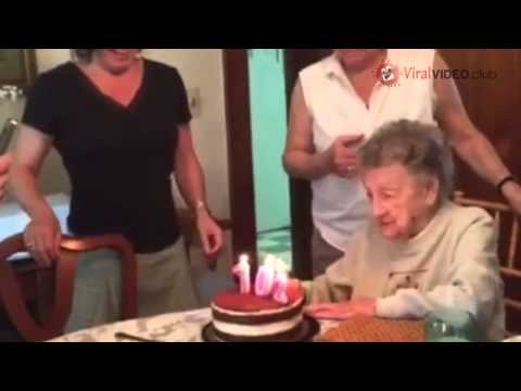 Grandma Blew Out Her Candles.  Nobody Expected This To Happen.  WATCH!