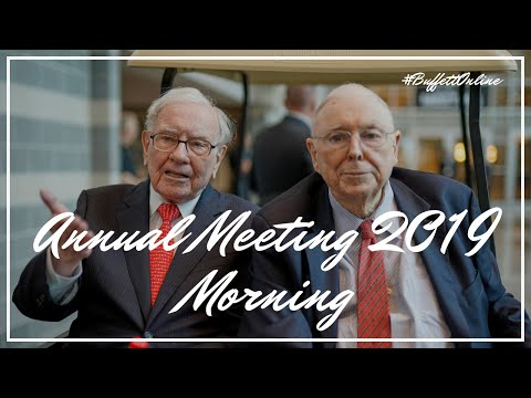 2019 Berkshire Hathaway Annual Meeting Morning Session With Warren Buffett And Charlie Munger