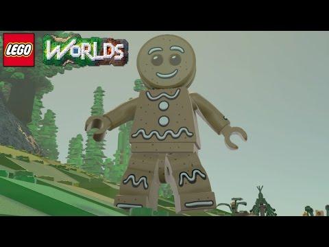 LEGO Worlds - Gingerbread Man Free Roam Gameplay
