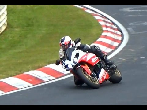 Motorbike Compilation 2015 - Crash, Fast & Crazy Biker, Wheelies Nordschleife Touristenfahrten