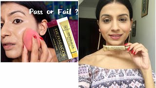 """Hey everyone! In this video I'm trying the Dermacol foundation on my face as in my first impression video I just tried it on my tattoo. The shade is too light for my skin -218 , still I tried my best to match it with my skin tone by adding some darker colors and bronzer. Even this foundation transfers a lot so you have to set it with lots of lose powder. After setting it won't transfer. It gives very high coverage without any touch ups.First impression of Dermacol https://youtu.be/fnSmNCBK09EHope you enjoyed watching this video and if you did so please hit the like button and don't go without subscribing my channel, it means a lot 🙂What I'm wearing - Top - forever 21 Earnings - forever 21 Lipstick - Lakme 9 to 5 matte mousse blush velvet Nails - colorbar exclusive 46-~-~~-~~~-~~-~-Please watch: """"BEST DANDRUFF TREATMENT AT HOME  SEBORRHEIC DERMATITIS TREATMENT AT HOME 100% RESULTS IN ONE USE"""" https://www.youtube.com/watch?v=sncnTLnEUK4-~-~~-~~~-~~-~-"""