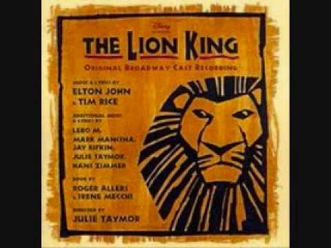 Rafiki Mourns-The Lion King Broadway(lyrics) (видео)