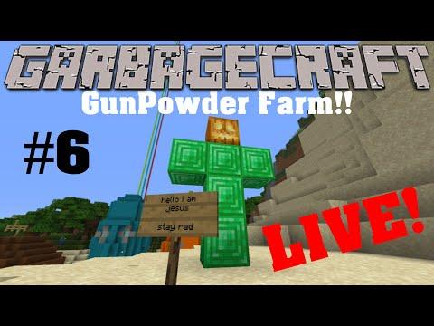 GarbageCraft Season1 Ep.#6 Gunpowder Farm!!!