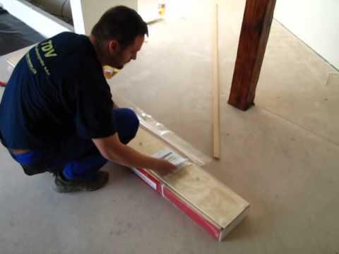 Rozbalení plovoucí podlahy