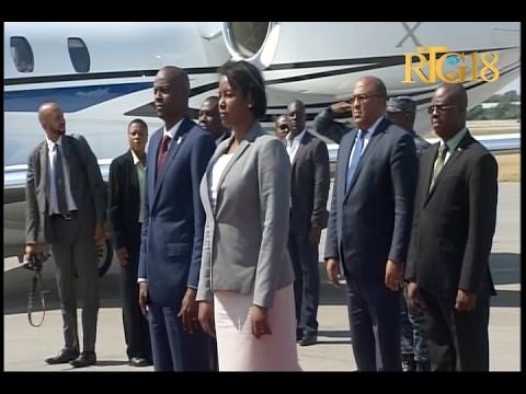 Le Président de la République Jovenel Moise de retour au pays.