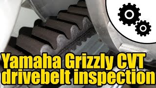 9. #1006 - Yamaha Grizzly 450 - CVT drive belt inspection
