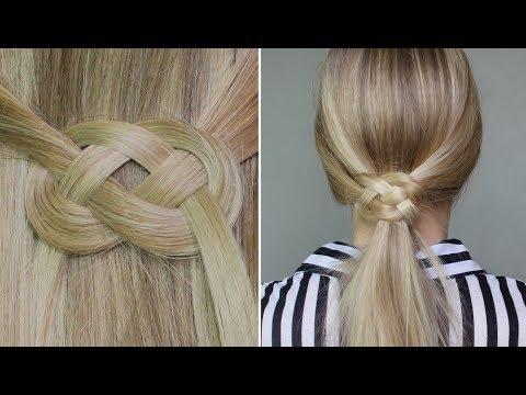 Demi queue ou queue de cheval avec noeud infinity noeud marin blog de fille fashion swag - Demi queue de cheval ...