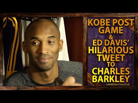 Kobe Bryant After Lakers First Win, Ed Davis' Hilarious Tweet To Charles Barkley