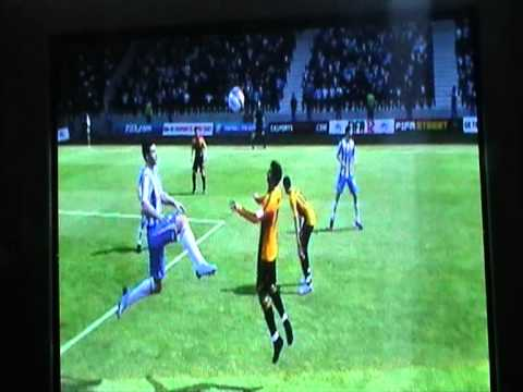 crazymonkey2007 - Player gets taken out by a kung fu kick in a game of FIFA12.