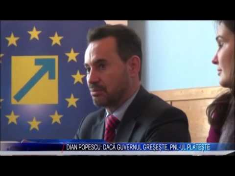 DIAN POPESCU: DACĂ GUVERNUL GREȘEȘTE, PNL-UL PLĂTEȘTE