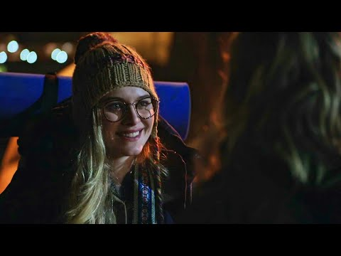 Once Upon A Time 7x14 Tilly Meets Margot In Hyperion Heights - Tilly Talks With The Statue Scene