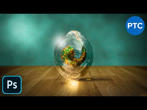 Create A Realistic Transparent Alien Egg in Photoshop