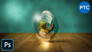 Create An Amazingly REALISTIC Transparent Alien Egg in Photoshop - Photo Manipulation Tutorial