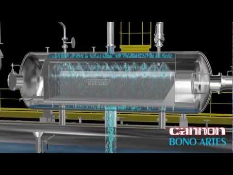 steam boiler animation - Deaerators based on BONO ARTES' proprietary ZeroGas Deaerator® technology remove dissolved gases (such as oxygen and carbon dioxide) from process water or boiler feed water. ZeroGas ...