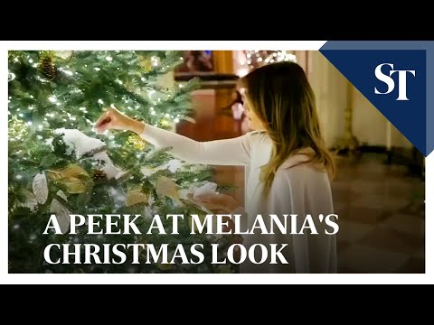 From red to white: A peek at Melania's Christmas look