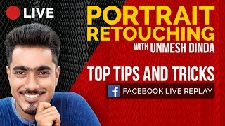 My Top Portrait Retouching Tips and Tricks in Photoshop | 🔴 LIVE REPLAY