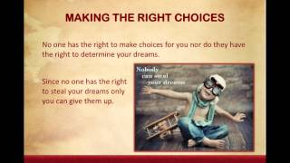 Lesson 2 Making the Right Choices