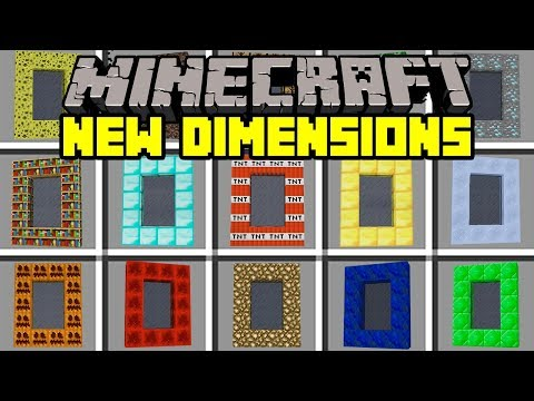 Minecraft NEW DIMENSIONS MOD! | BUILD & TRAVEL TO NEW WORLDS! | Modded Mini-Game