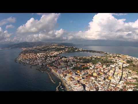 messina a 360 gradi in soli 200 secondi. la città vista dall'alto.