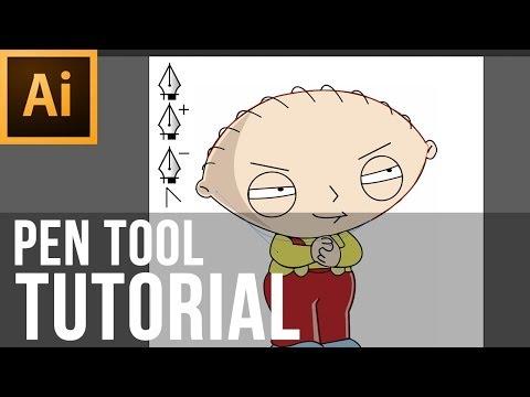 Adobe Illustrator CS6 - How To Use The Pen Tool