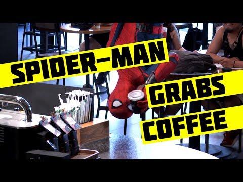 Spider-Man Grabbing Coffee Prank