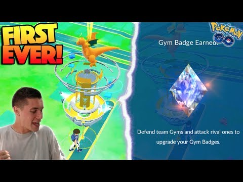 FIRST EVER NEW UPDATE GYM BATTLE IN POKEMON GO! THIS NEW SYSTEM IS SO EPIC! (First Reactions)
